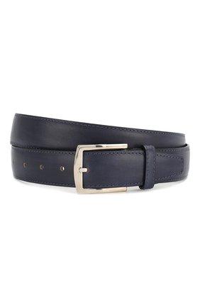 Мужской кожаный ремень KITON темно-синего цвета, арт. USC4PN00100 | Фото 1