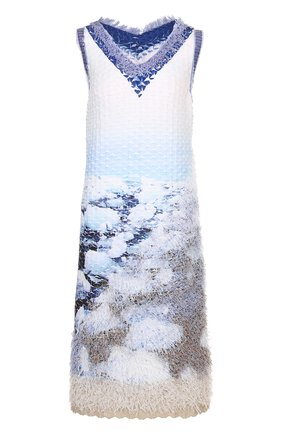 Платье с V-образным вырезом и контрастной отделкой   Фото №1