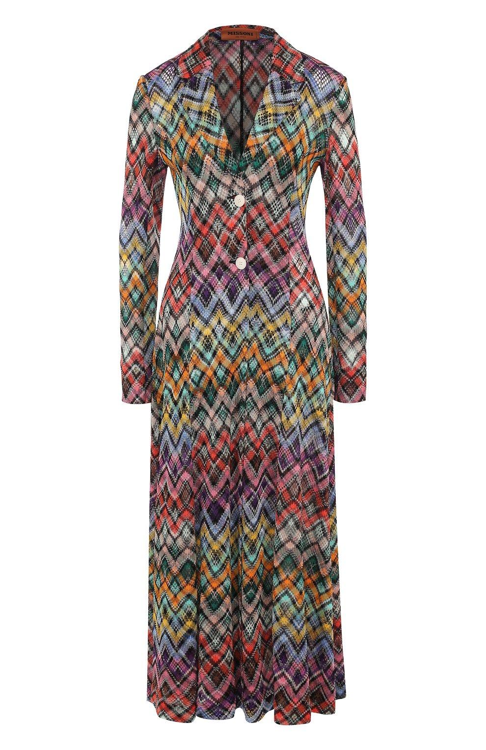 Приталенное вязаное платье-миди | Фото №1