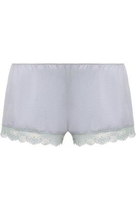 Мини-шорты с кружевной отделкой | Фото №1