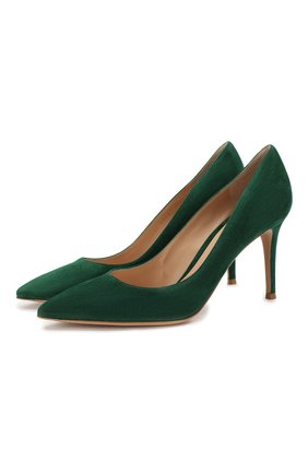 Женская замшевые туфли gianvito 85 на шпильке GIANVITO ROSSI зеленого цвета, арт. G24580.85RIC.CAMLEAF | Фото 1