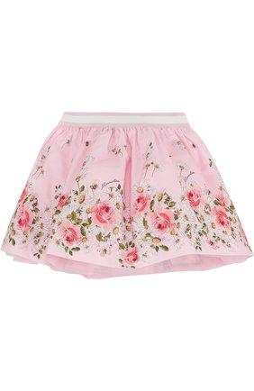 Хлопковая юбка с принтом и эластичным поясом | Фото №2
