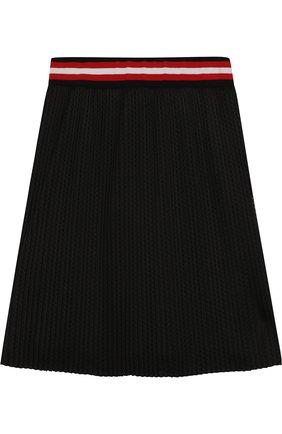 Плиссированная юбка с перфорацией | Фото №2