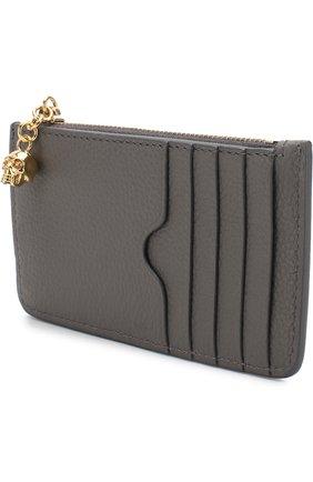 Кожаный футляр для кредитных карт с отделением на молнии | Фото №2