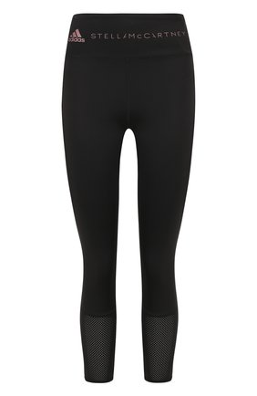 Спортивные леггинсы с перфорированием adidas by Stella McCartney черного цвета | Фото №1