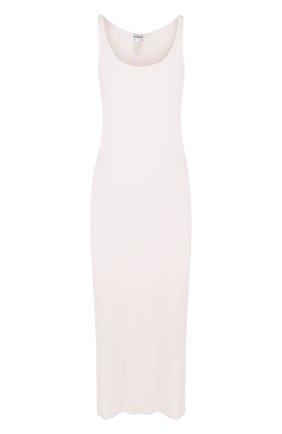 Однотонное платье из смеси вискозы и шелка | Фото №1