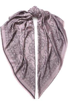 Платок из смеси шелка и шерсти с принтом | Фото №1