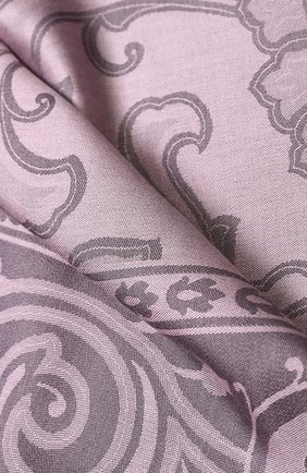 Платок из смеси шелка и шерсти с принтом Emilio Conte розовый   Фото №1