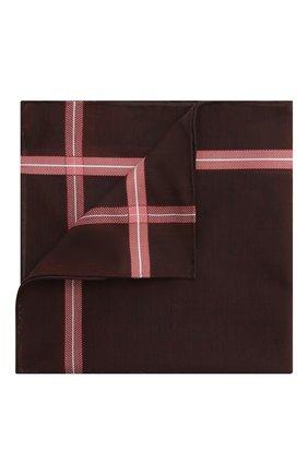 Мужской хлопковый платок SIMONNOT-GODARD коричневого цвета, арт. CHEVR0N | Фото 1