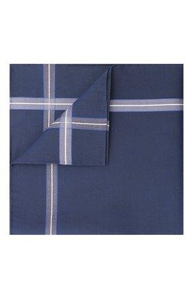 Мужской хлопковый платок SIMONNOT-GODARD синего цвета, арт. CHEVR0N | Фото 1