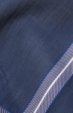 Мужской хлопковый платок SIMONNOT-GODARD синего цвета, арт. CHEVR0N | Фото 2