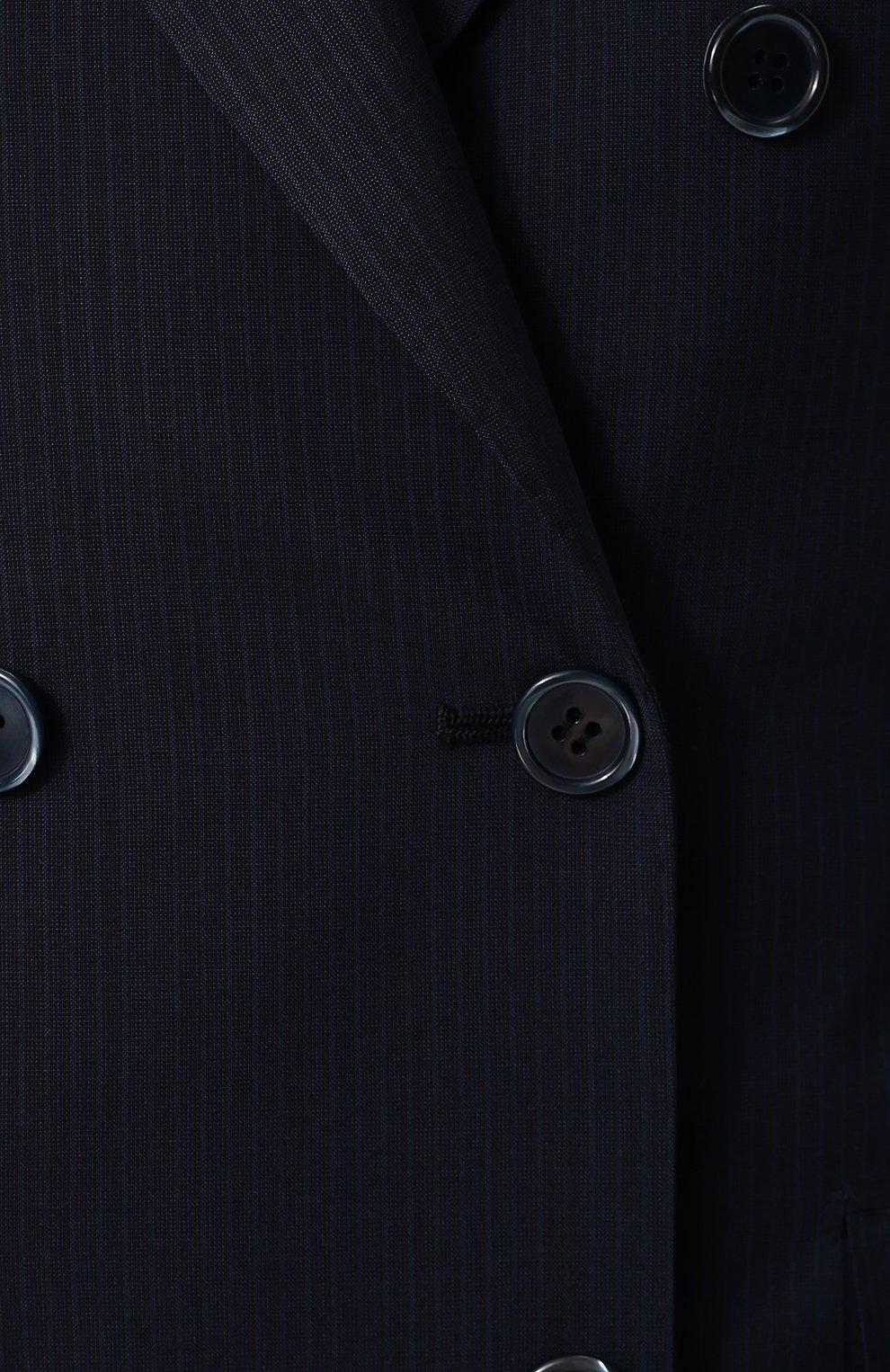 Двубортный приталенный жакет из шерсти   Фото №5