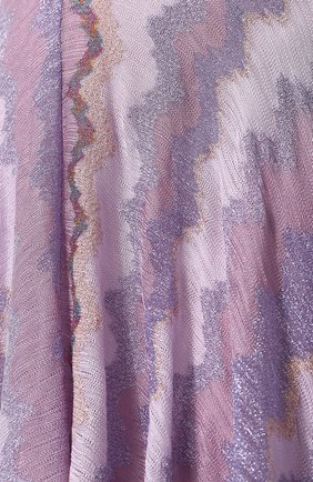 Вязаная юбка-миди с металлизированной нитью Missoni розовая   Фото №5