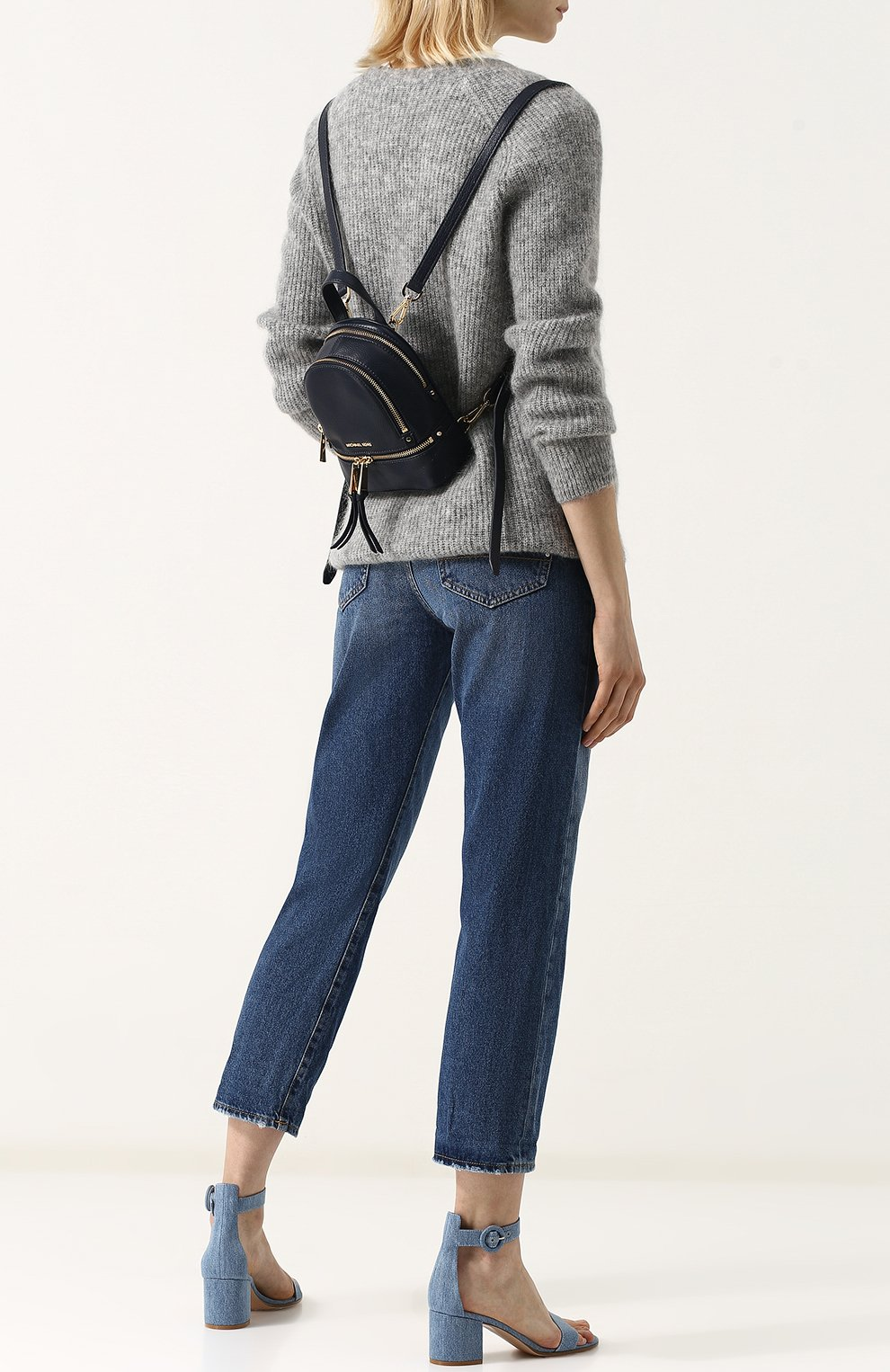 Кожаный рюкзак Rhea Zip XS   Фото №2