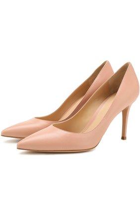 Кожаные туфли Gianvito 85 на шпильке | Фото №1