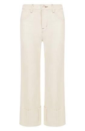 Однотонные укороченные джинсы | Фото №1