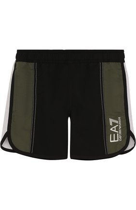 Плавки-шорты с логотипом бренда | Фото №1