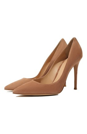 Женская замшевые туфли gianvito 105 GIANVITO ROSSI бежевого цвета, арт. G28470.15RIC.CAMPRAL | Фото 1