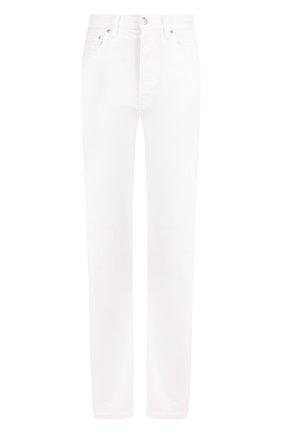Однотонные джинсы прямого кроя