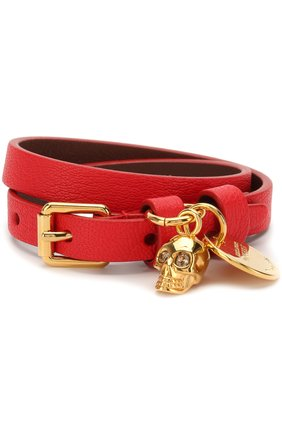 Кожаный браслет с подвеской-черепом | Фото №1