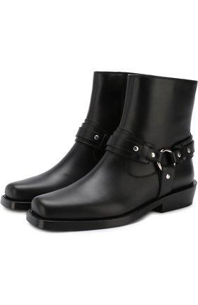 Кожаные ботинки с ремешками | Фото №1