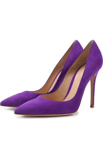 Замшевые туфли Gianvito 105 на шпильке