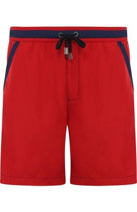 Плавки-шорты с контрастной отделкой | Фото №1