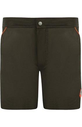 Плавки-шорты с контрастной отделкой   Фото №1