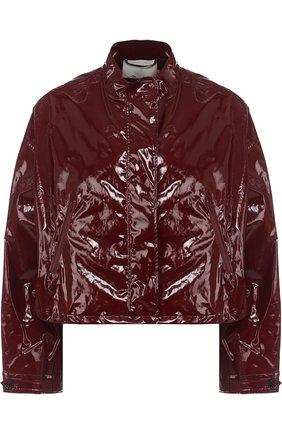 Укороченная куртка с воротником-стойкой 3.1 Phillip Lim бордовая | Фото №1
