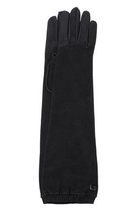 Удлиненные перчатки Mischa из кожи и замши | Фото №1