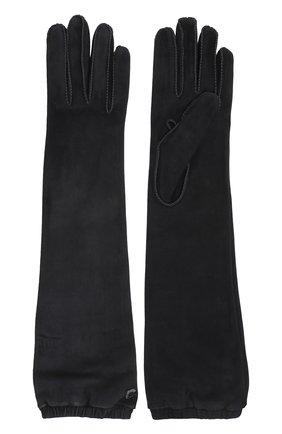 Женские удлиненные перчатки mischa из кожи и замши LORO PIANA темно-серого цвета, арт. FAI2439 | Фото 2 (Статус проверки: Проверено, Проверена категория; Длина (верхняя одежда): Длинные)
