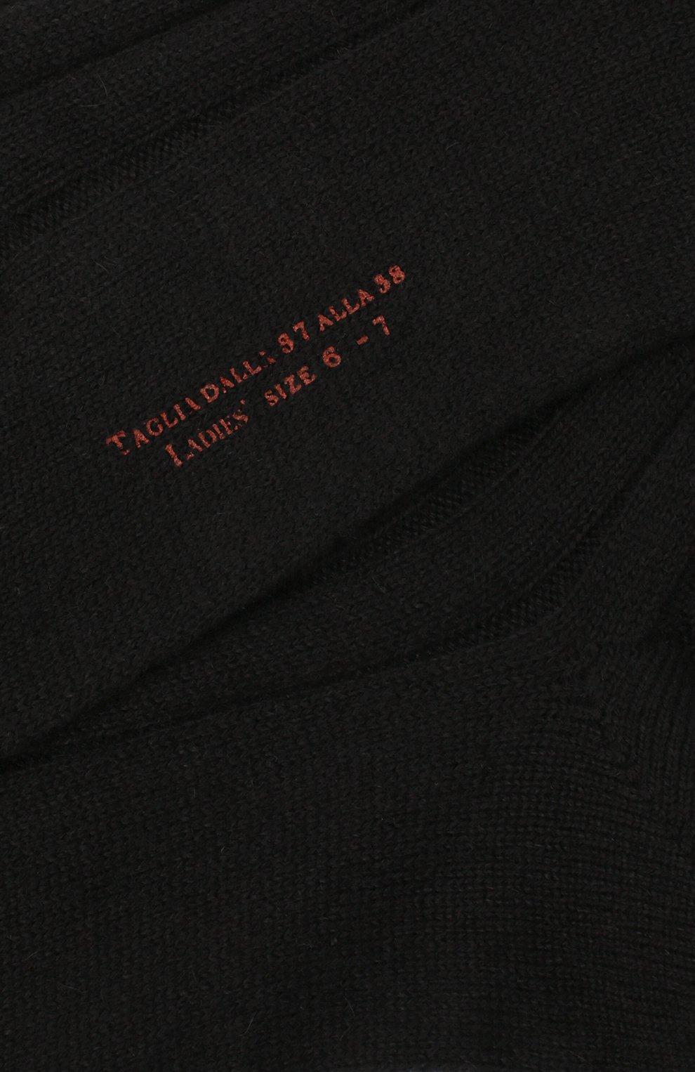 Женские кашемировые носки LORO PIANA темно-серого цвета, арт. FAF8553   Фото 2