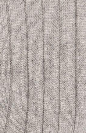Женские кашемировые носки LORO PIANA светло-серого цвета, арт. FAF8553 | Фото 2