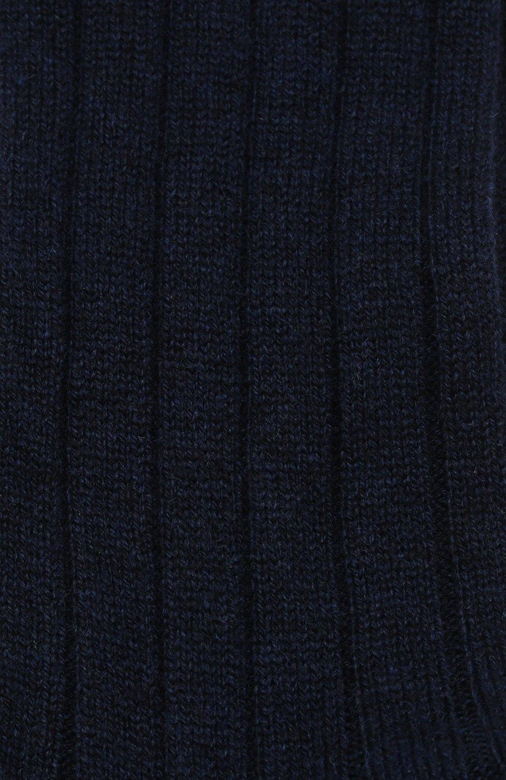 Женские кашемировые носки LORO PIANA темно-синего цвета, арт. FAF8553   Фото 2
