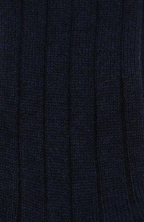 Женские кашемировые носки LORO PIANA темно-синего цвета, арт. FAF8553 | Фото 2
