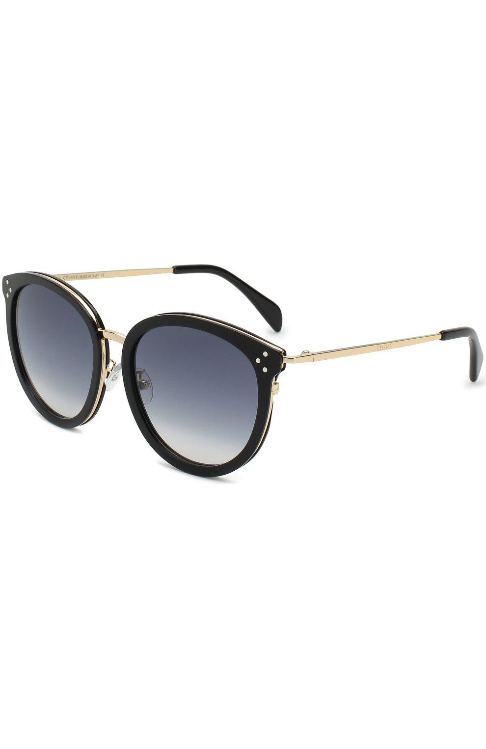 Женские солнцезащитные очки CELINE EYEWEAR черного цвета, арт. CL40033F 01B   Фото 1