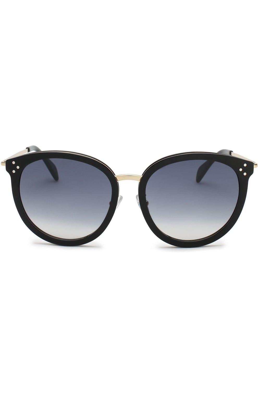 Женские солнцезащитные очки CELINE EYEWEAR черного цвета, арт. CL40033F 01B   Фото 2
