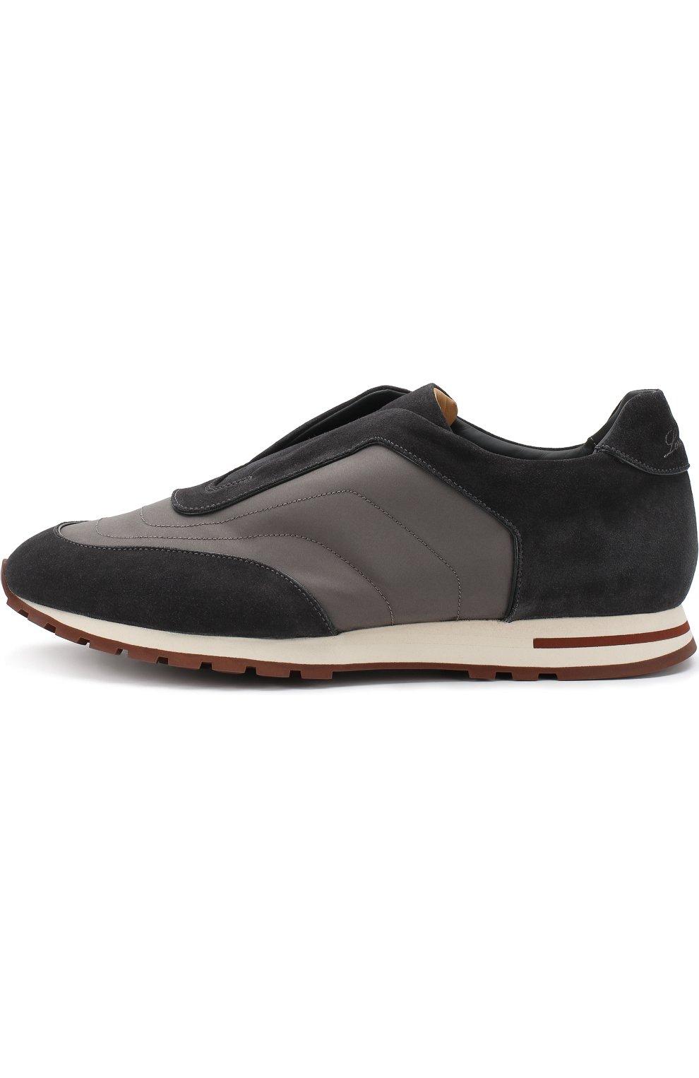 Мужские комбинированные кроссовки matchplay weekend open walk LORO PIANA темно-серого цвета, арт. FAI2053 | Фото 3