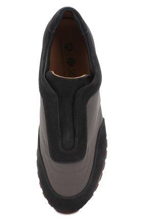 Мужские комбинированные кроссовки matchplay weekend open walk LORO PIANA темно-серого цвета, арт. FAI2053 | Фото 5