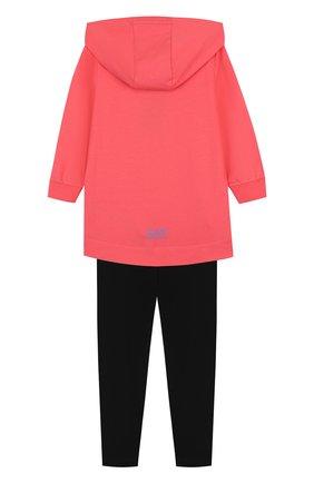 Хлопковый костюм из кардигана и брюк Ea 7 розового цвета | Фото №1