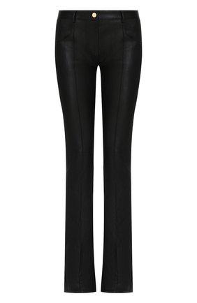 Расклешенные кожаные брюки | Фото №1
