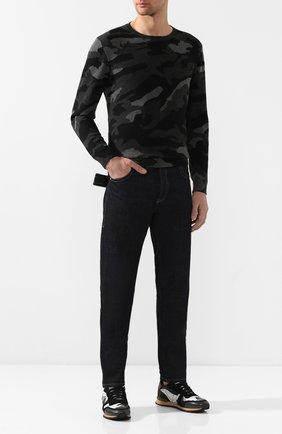 Мужские комбинированные кроссовки valentino garavani rockrunner VALENTINO светло-серого цвета, арт. QY2S0723/TCC | Фото 2