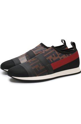 Текстильные кроссовки без шнуровки