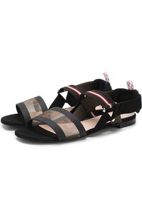 Текстильные сандалии с принтом | Фото №1
