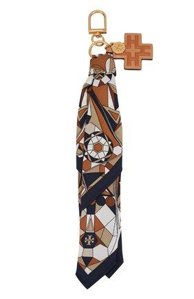 Текстильный брелок с кожаной подвеской | Фото №1