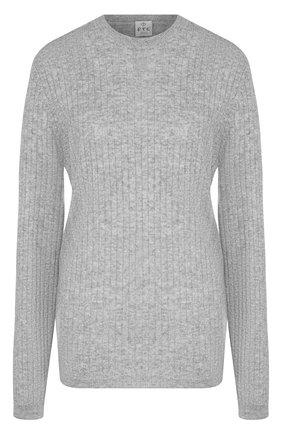 Однотонный кашемировый пуловер фактурной вязки