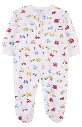 Хлопковая пижама на молнии с принтом | Фото №1
