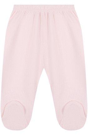Хлопковые брюки фактурной вязки Kissy Kissy белого цвета | Фото №1