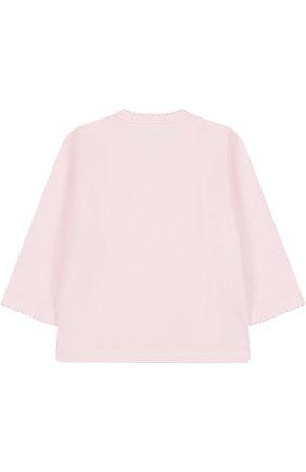 Хлопковая распашонка Kissy Kissy розового цвета | Фото №1