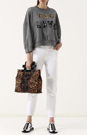 Женские текстильные кроссовки sorrento DOLCE & GABBANA белого цвета, арт. CK1595/AH677 | Фото 2